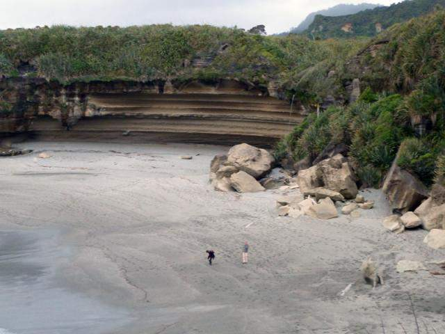A Sculpted Punakaiki Beach Cove