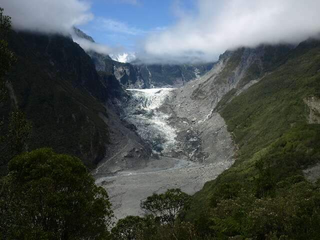 An Elevated View Of Fox Glacier's Upper Reaches